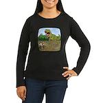 Corgi T-Rex Women's Long Sleeve Dark T-Shirt