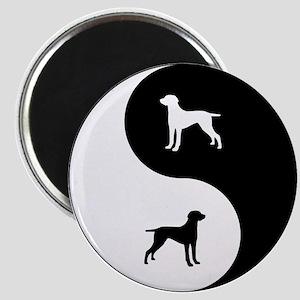 Yin Yang Weimaraner Magnet