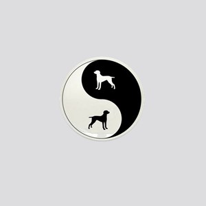 Yin Yang Weimaraner Mini Button