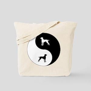 Yin Yang Weimaraner Tote Bag