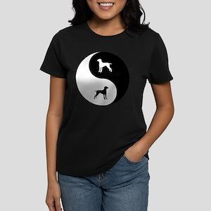 Yin Yang Weimaraner Women's Dark T-Shirt