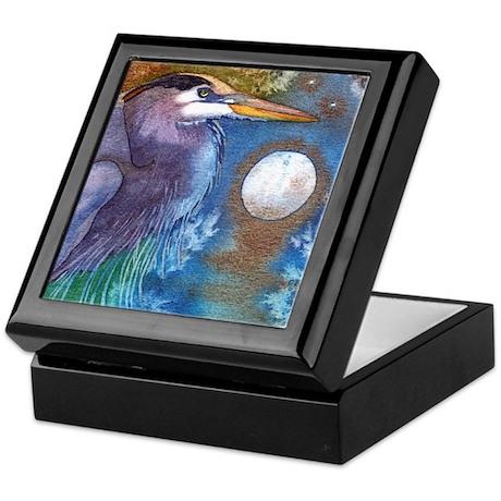 Blue Heron and Bronze Moon Keepsake Box