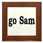 go Sam Framed Tile