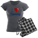 I Heart Running Women's Charcoal Pajamas
