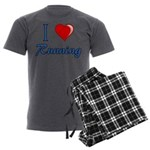 I Heart Running Men's Charcoal Pajamas