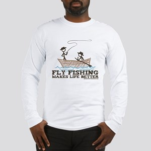 Fly Fishing Life Long Sleeve T-Shirt