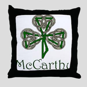 McCarthey Shamrock Throw Pillow