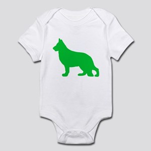 German Shepherd St. Patty's Day Infant Bodysuit