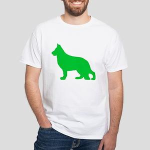 German Shepherd St. Patty's Day White T-Shirt