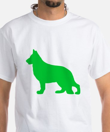 German Shepherd St. Patty's Day White T-Shirt