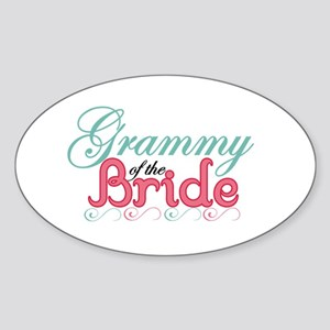 Grammy of the Bride Oval Sticker