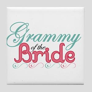 Grammy of the Bride Tile Coaster