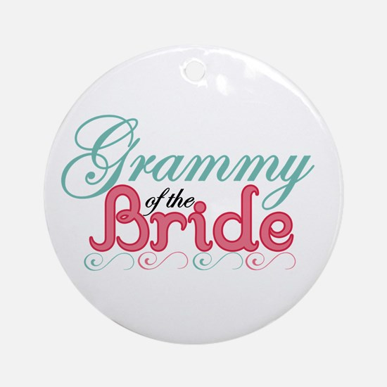 Grammy of the Bride Ornament (Round)