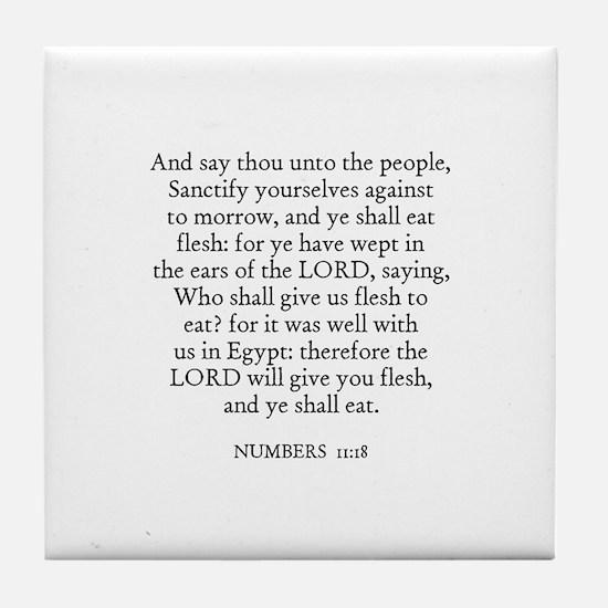NUMBERS  11:18 Tile Coaster