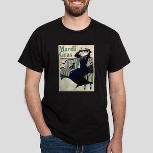 Mardi Gras Poster Dark T-Shirt