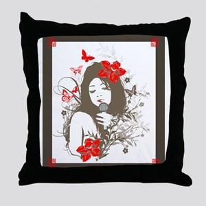 Vocal Goddess Throw Pillow