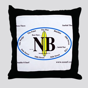 Newport Beach Surf Breaks Throw Pillow