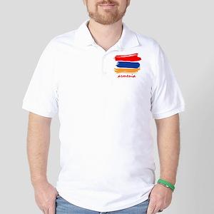 Armenian Flag design Golf Shirt