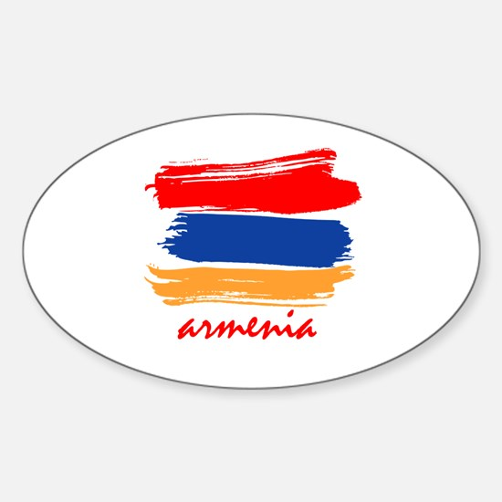 Armenian Flag design Oval Decal
