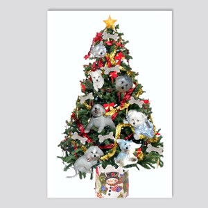 Maltese Holiday Cards Postcards (Package of 8)