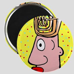 Tuba Head Cartoon Man Magnet