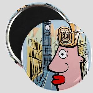 Tuba Man Visits London Magnet