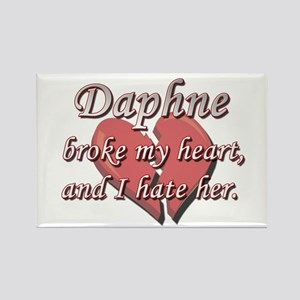 Daphne broke my heart and I hate her Rectangle Mag