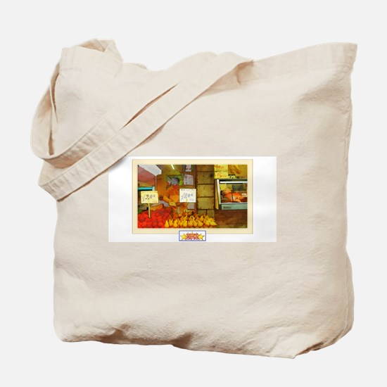 Painted Italian Fruit Stand Tote Bag