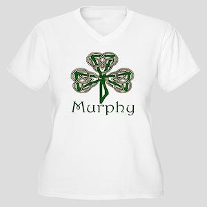 Murphy Shamrock Women's Plus Size V-Neck T-Shirt