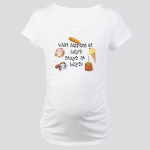 What Happens at Lolly's... Maternity T-Shirt