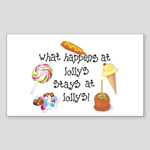 What Happens at Lolly's... Rectangle Sticker