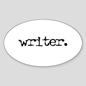 writer. Oval Sticker