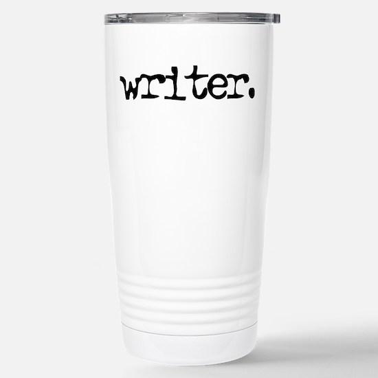 writer. Stainless Steel Travel Mug