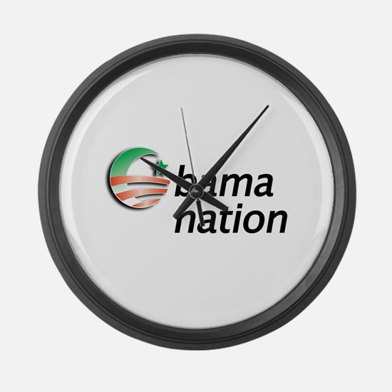 Obama Nation Large Wall Clock