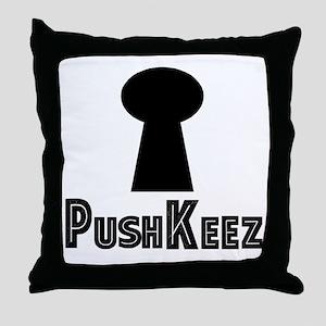 Push Keez Throw Pillow