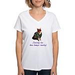 Mardi Gras Cat Women's V-Neck T-Shirt