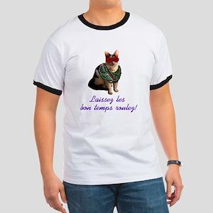 Mardi Gras Cat Ringer T