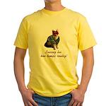 Mardi Gras Cat Yellow T-Shirt