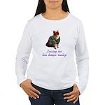Mardi Gras Cat Women's Long Sleeve T-Shirt