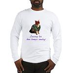 Mardi Gras Cat Long Sleeve T-Shirt