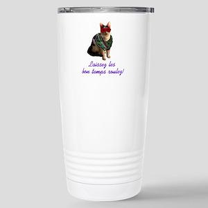 Mardi Gras Cat Stainless Steel Travel Mug