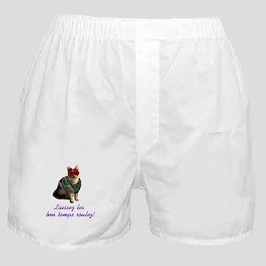 Mardi Gras Cat Boxer Shorts