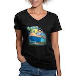 GrisDismation's Ongher Women's V-Neck Dark T-Shirt
