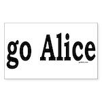 go Alice Rectangle Sticker