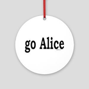go Alice Ornament (Round)