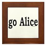 go Alice Framed Tile