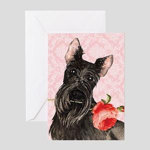 Scottish Terrier Rose Greeting Card
