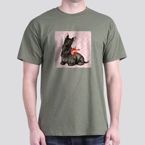 Scottish Terrier Rose Dark T-Shirt