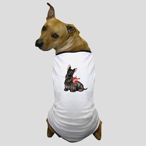 Scottish Terrier Rose Dog T-Shirt