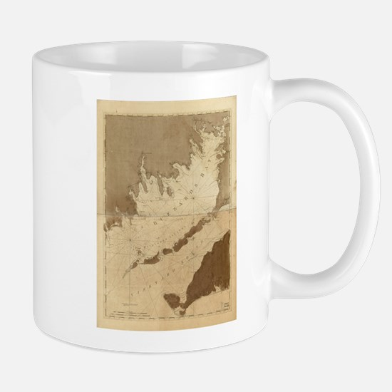 Vintage Map of Buzzards Bay (1776) Mugs